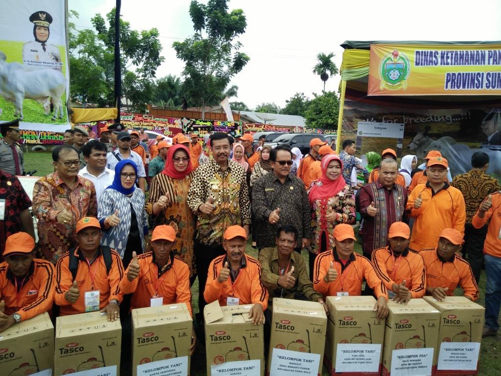 Gubsu Motivasi Petani dan Perternakan Tingkatkan Produksi